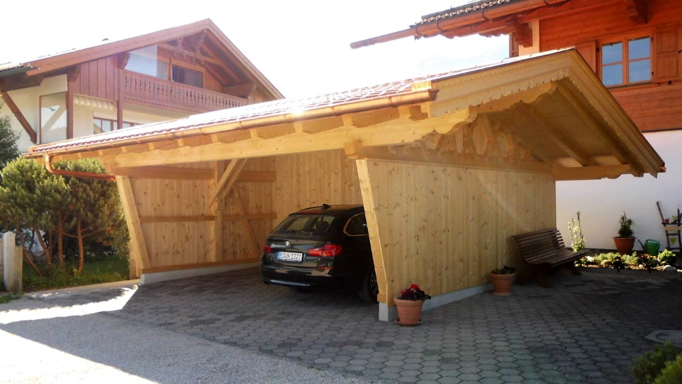 carport zimmerei sperer wallgau. Black Bedroom Furniture Sets. Home Design Ideas
